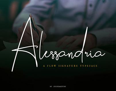 Alessandria Signature Font 2020