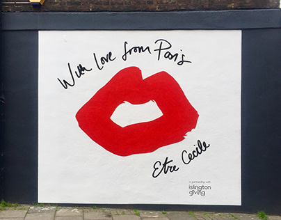 Etre Cecile wall mural Cross Street London N1