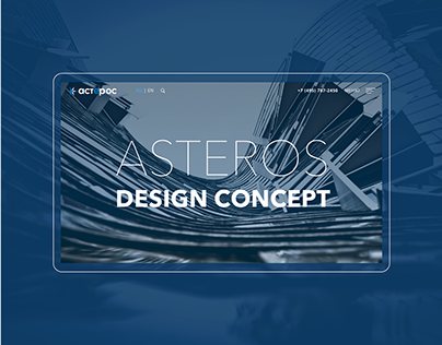 Asteros - Corporate Website Concept