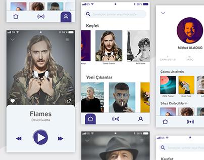 Music Mobile App UI/UX Design