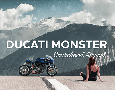 Ducati Monster - Courchevel airport