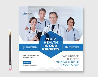 Medical Social media post, Instagram post design