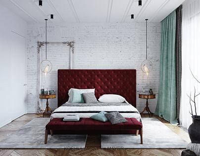 AVALON LUX BURGUNDY BEDROOM