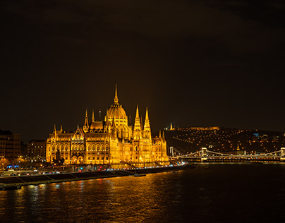 Budapest in the evening