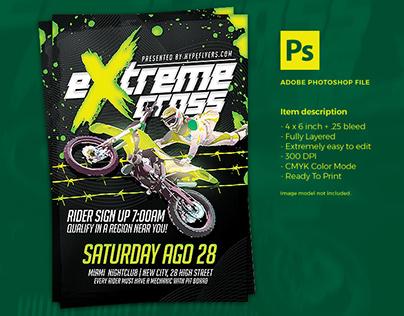 Motocross Event Flyer Template