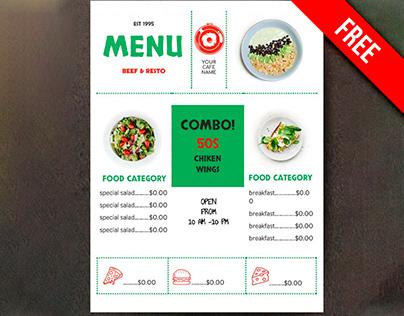 Restaurant Menu - free Google Docs Template