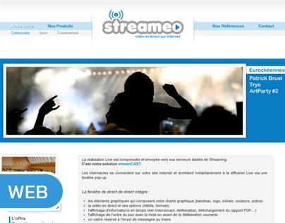 """Maquette site internet """"Streameo"""""""