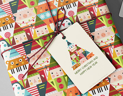 Christmas graphic pattern design