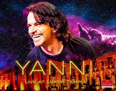 Concept for Yanni Live at Luxor Tample - Egypt.