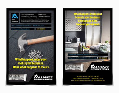 Alliance Renovations Mailer Ad