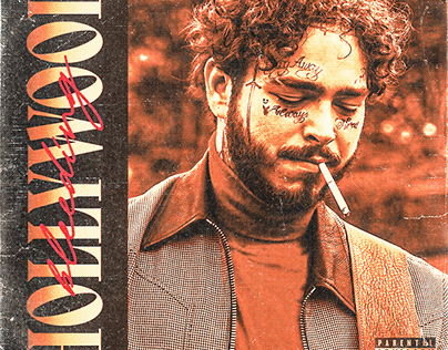 Post Malone Hollywood's Bleeding cover concept