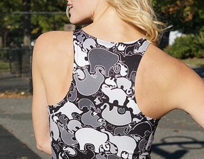 Elephant Camo Textile for Ohm K apparel