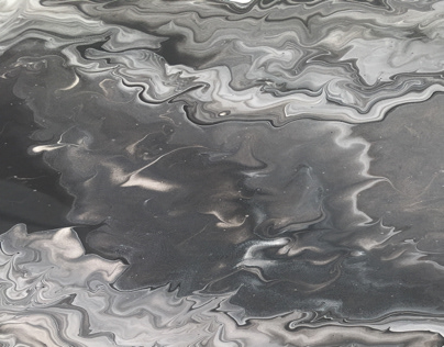 Try to marble painting