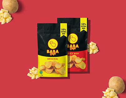 Baba Chips Logo Design - Snack Logo and Branding