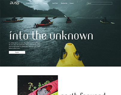 Bliss Kayaks Website
