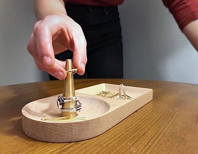 Maple and Brass Jewelry Tray