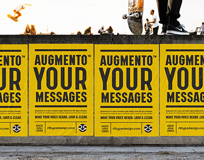 Augmento™ – Typeface Design + Free Demo Fonts