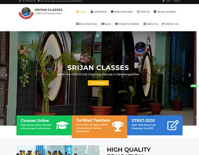 Srijan Classes Website