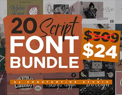 20 Script Fonts Bundle