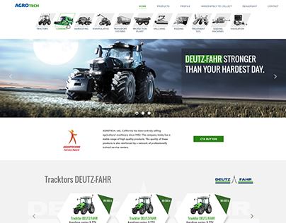 Web page for agrocompany
