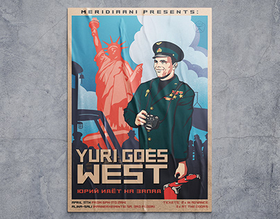 Poster in Soviet Style