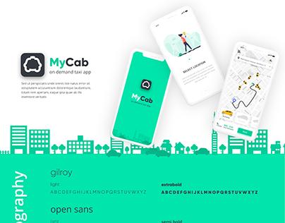 MyCab-Ondemand taxi app