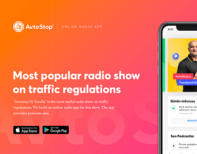 AvtoStop - Online Radio App Design