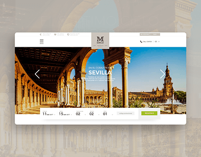 Hotel Murillo Concept Website