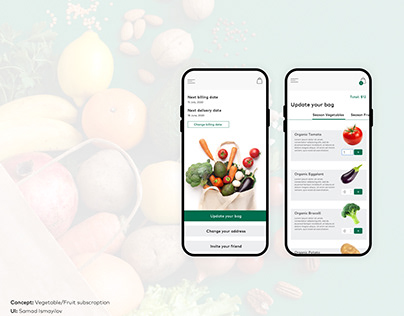 Organic Vegetable/Fruit Subscription Concept