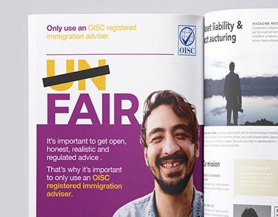 Immigration Adviser finder campaign