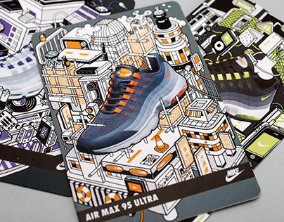 NIKE AIR MAX 95 COLLECTABLE CARDS