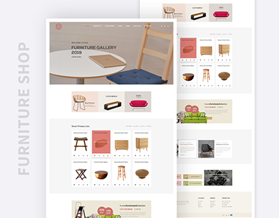 E commerce Landing page UI
