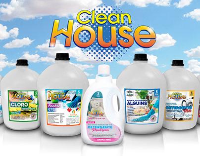 """Diseño de logo y etiquetas para """"Clean House"""""""
