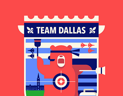Team Dallas Curling Crest