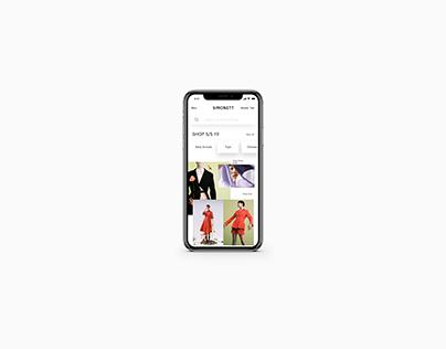 Conceptual UI for SIMONETT Mobile App
