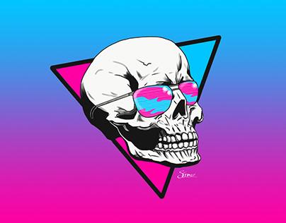 Digitally Illustrated Skull
