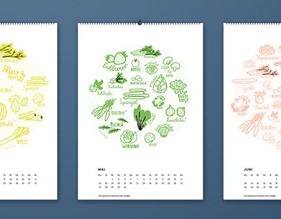 Seasonal fruit and vegetable calender