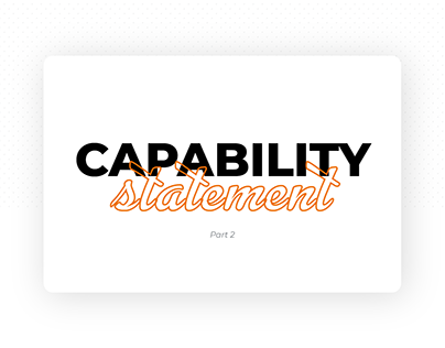 Capability Statement - Part 2