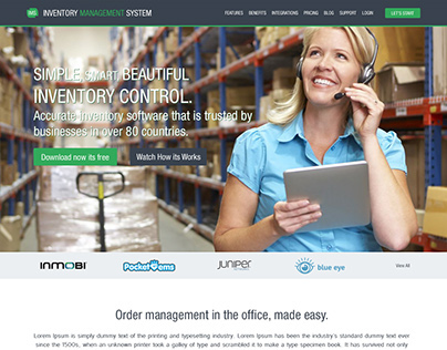Inventory Management System Landing and Admin Pages