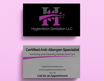 Hygienitech Business card and flyer