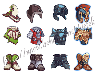 """""""Cave"""" mobile RPG icon sets (release in progress)"""