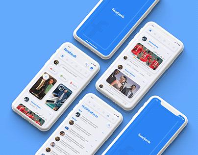 Facebook Mobile App Neumorphism UI