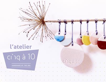 cinq à 10, gamme d'objets en céramique