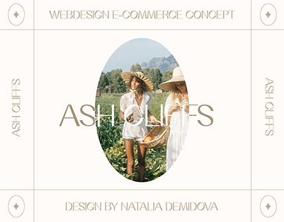 ASH CLIFFS CLOTHES WEB DESIGN E-COMMERCE CONCEPT