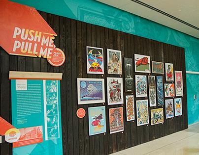 Push Me, Pull Me Pearl Jam Poster Exhibit Design