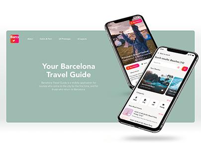 Barcelona Travel Guide   UX/UI   Mobile App
