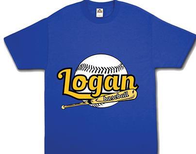 Logan Baseball Shirt Design