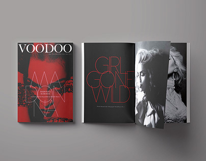 Design ideas for Voodoo magazine featuring Madonna