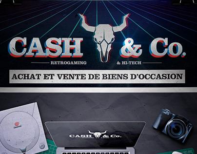 Flyer Boutique Rétro Gaming 'Cash & Co.'