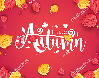Autumn and Thanksgiving Day Vector Background